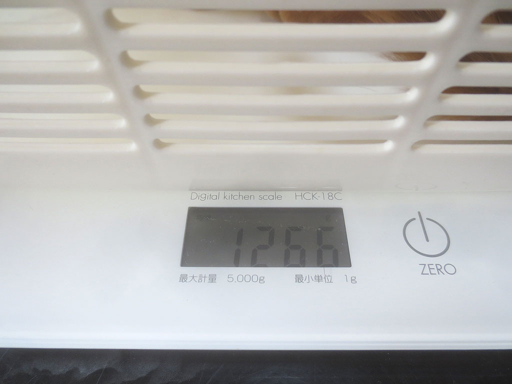 ロシ子の体重は1,266gでした。