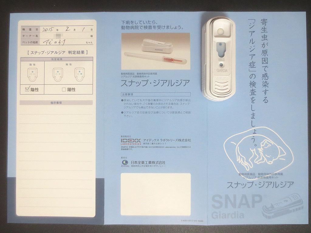 今回の検査のパンフレット。