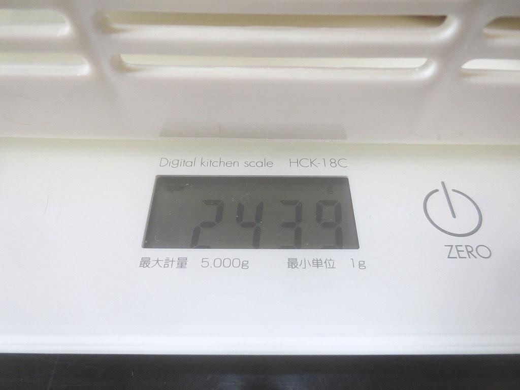 アビのすけの体重は2,439gでした。