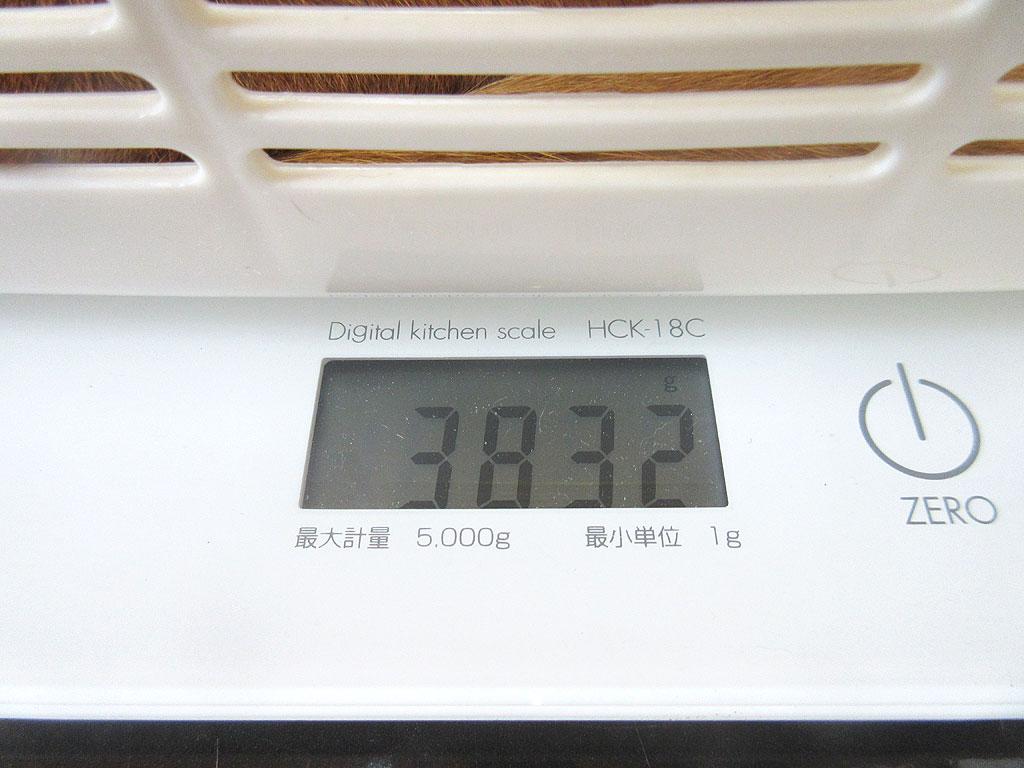 アビのすけの体重は3,832gです。