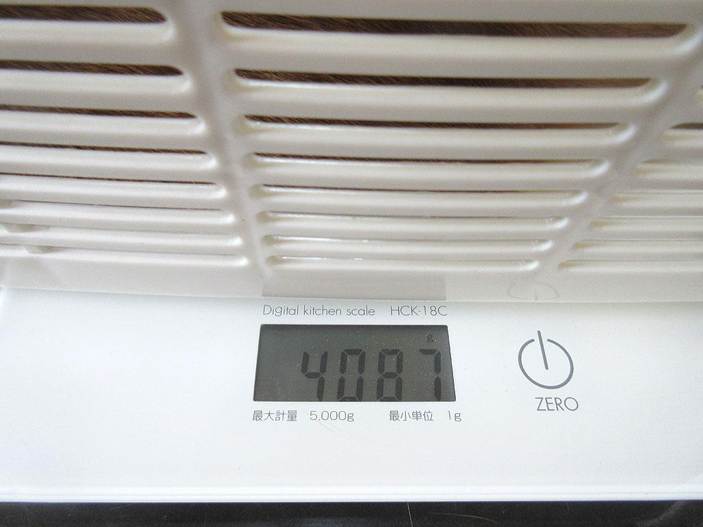アビのすけの体重は4,087g。
