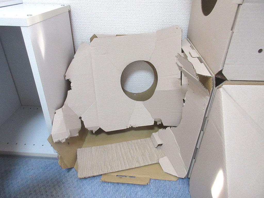 ダンボールハウスが潰れました。