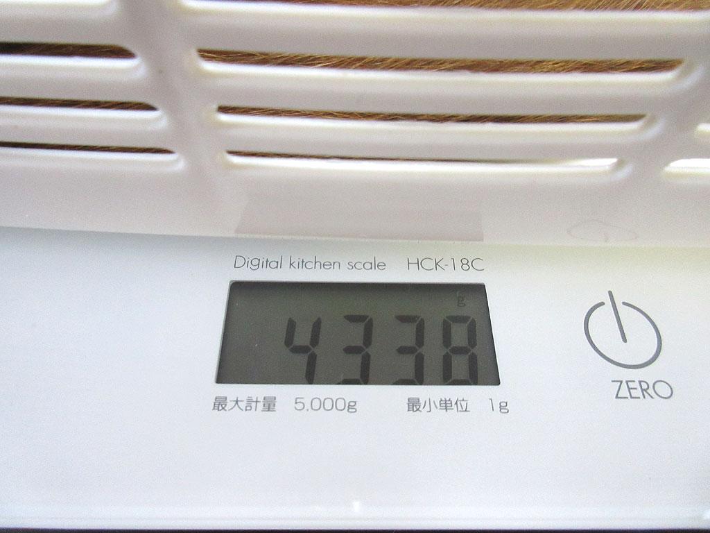 アビのすけの体重は4,338g。