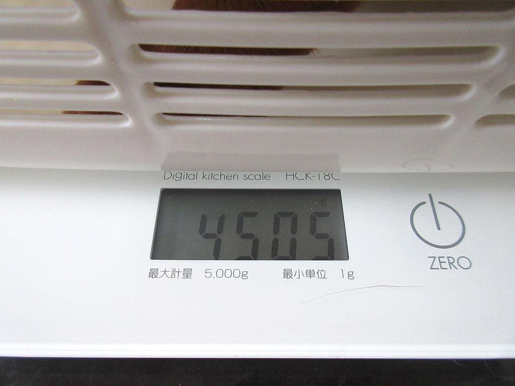 アビのすけの体重は4,505g。