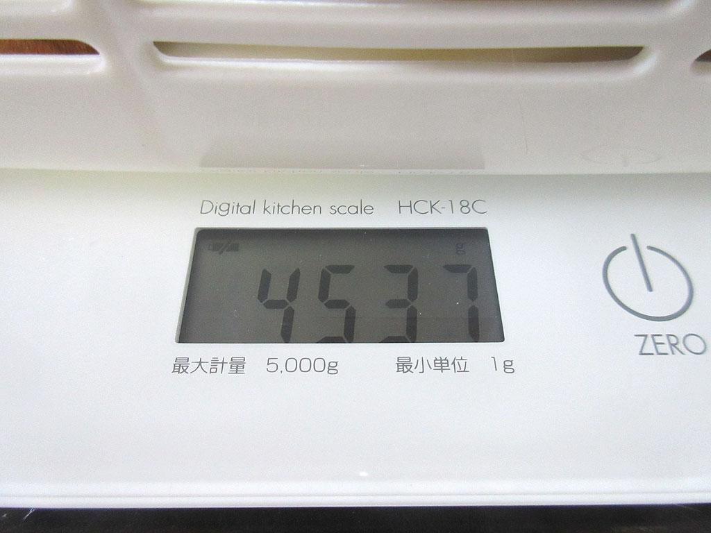 アビのすけの体重は4,537g。