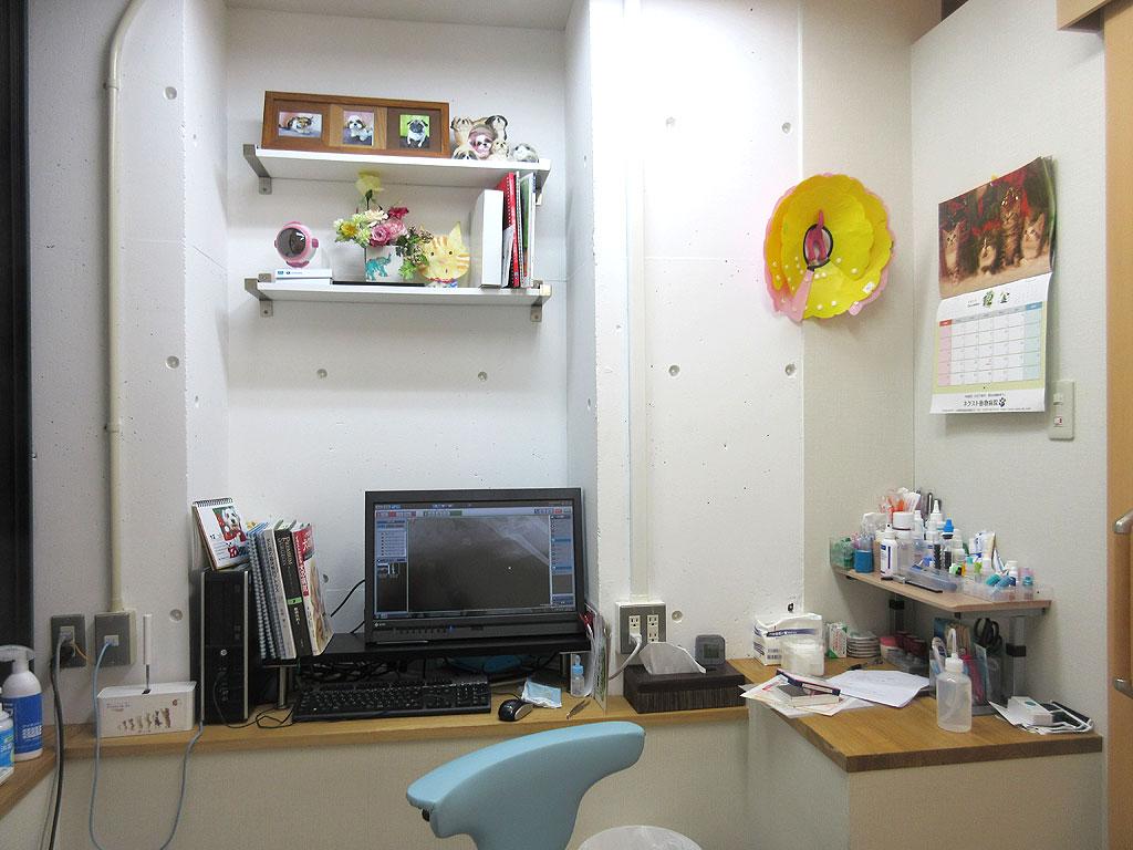 ネクスト動物病院の診察室。