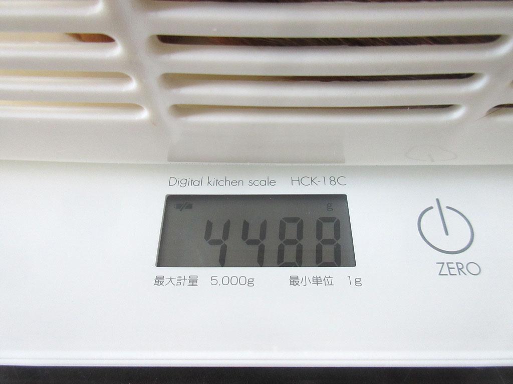 アビのすけの体重は4,488g。