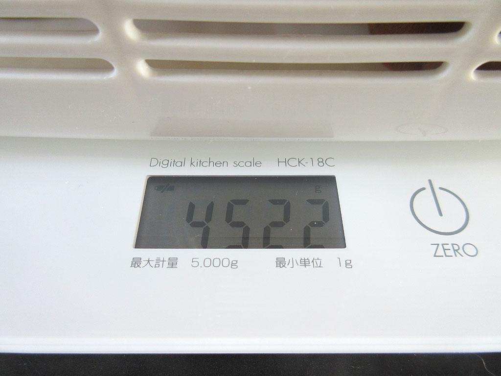 アビのすけの体重は4,522gでした。