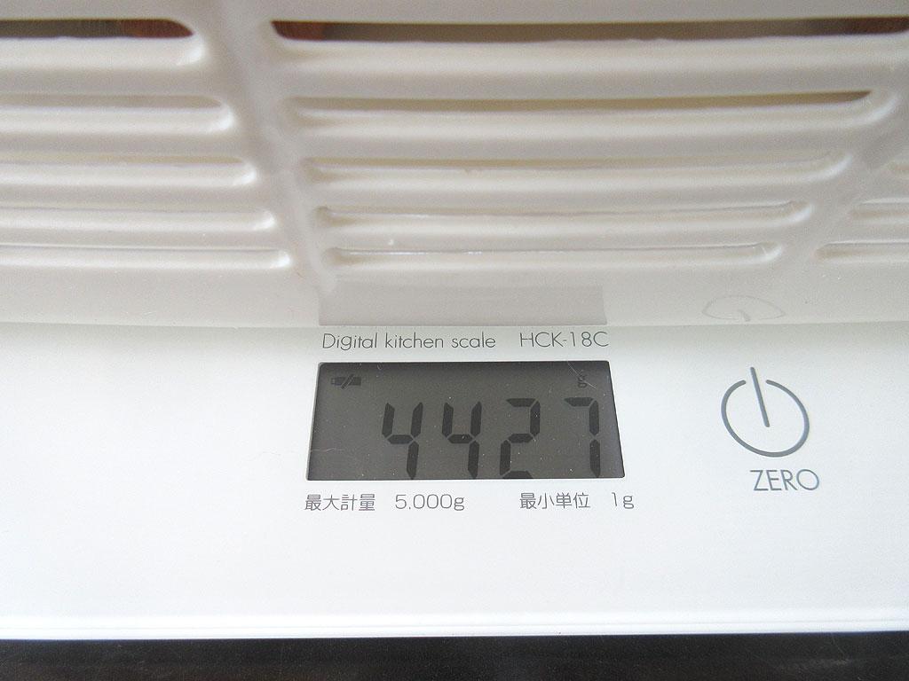 アビのすけの体重は4,427g。
