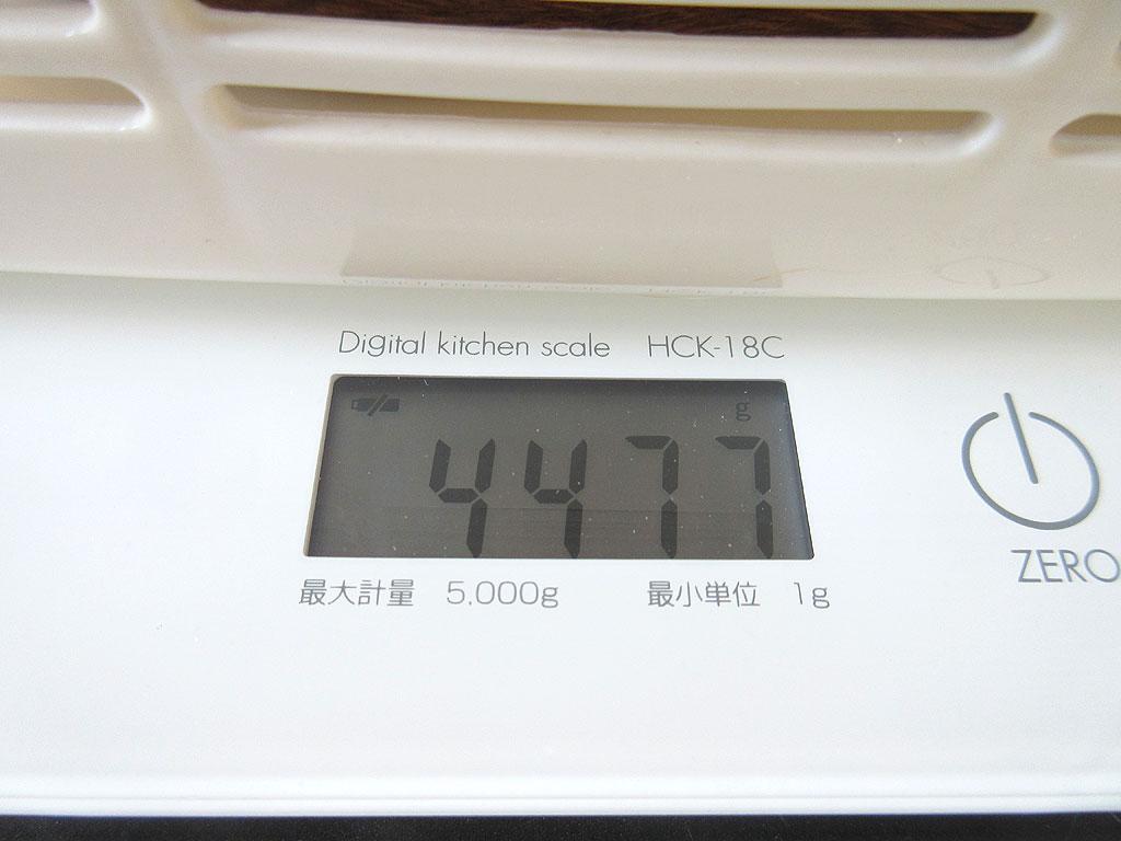 アビのすけの体重は4,477g。