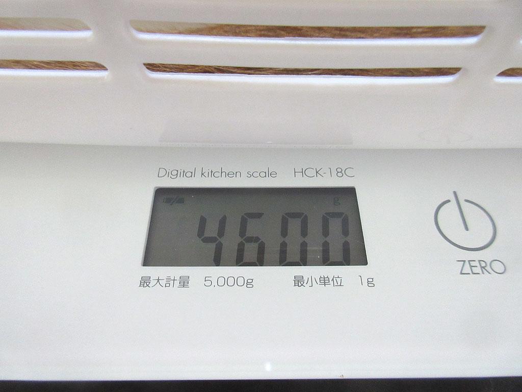 アビのすけの体重は4,600g。