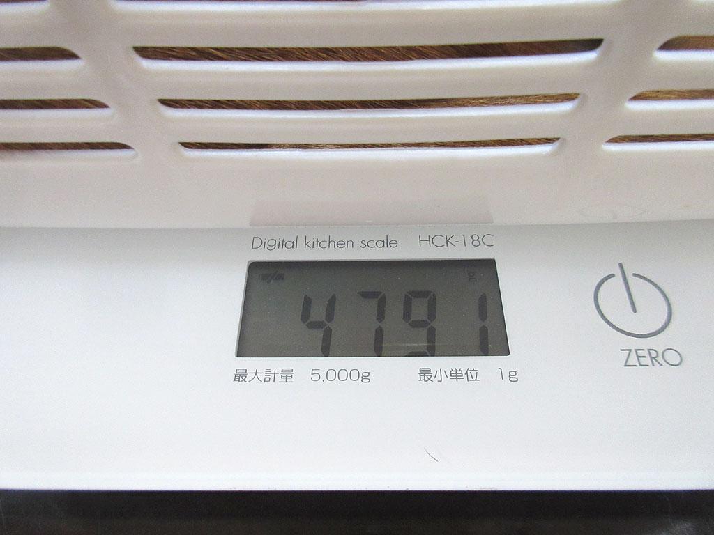 アビのすけの体重は4,791g。