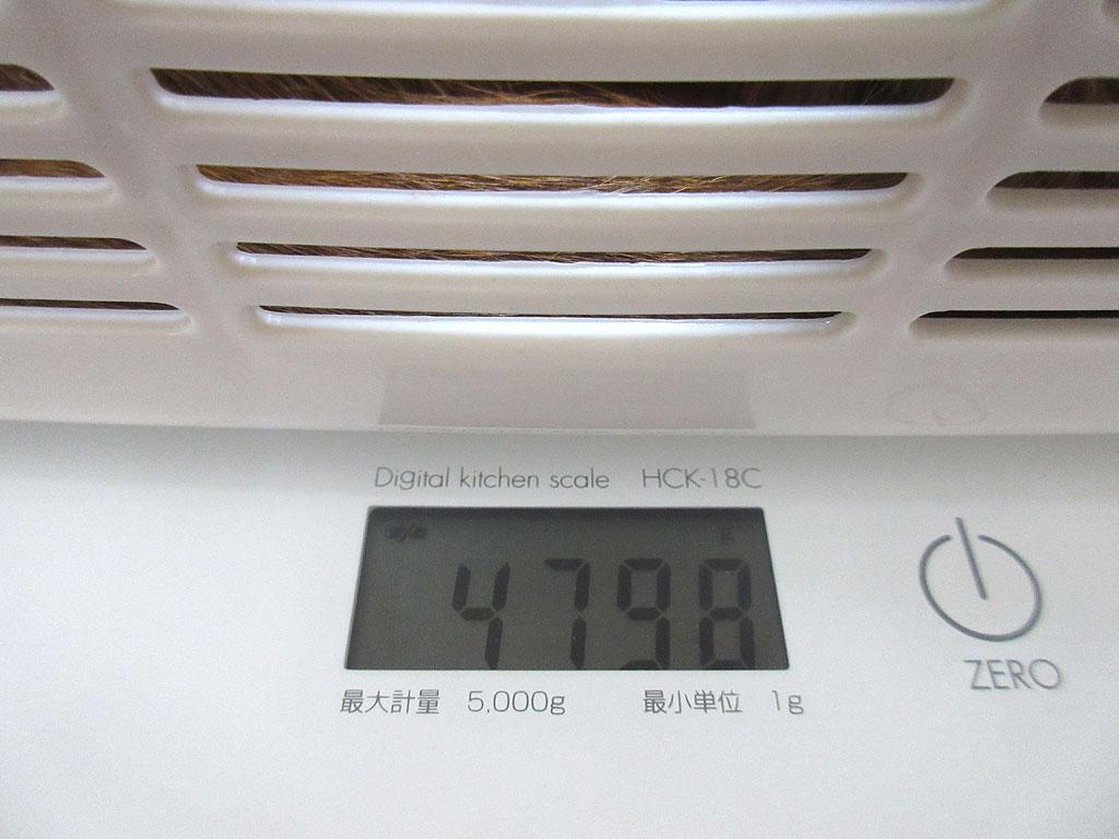 アビのすけの体重は4,798g。