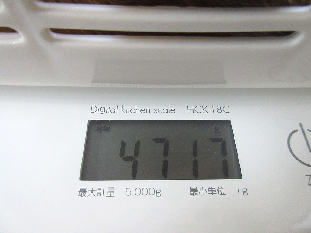 アビのすけの体重は4,717g。
