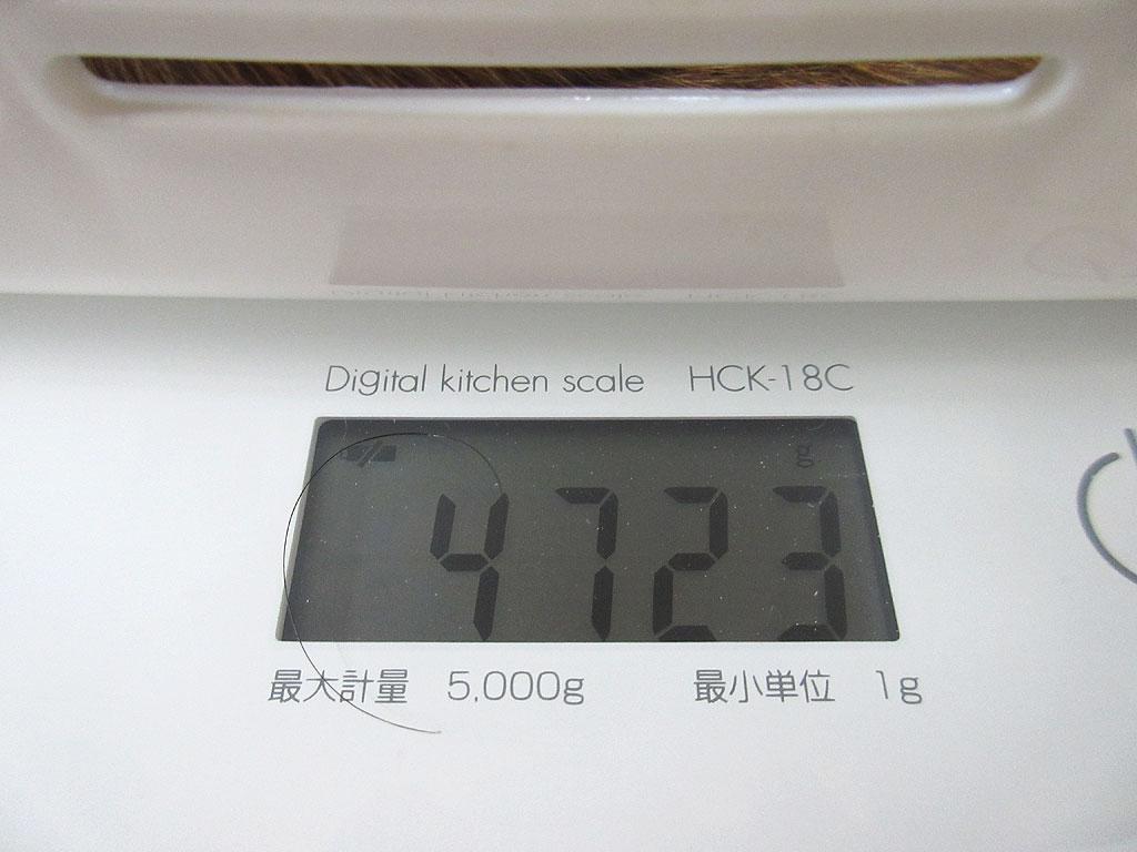 アビのすけの体重は4,723g。