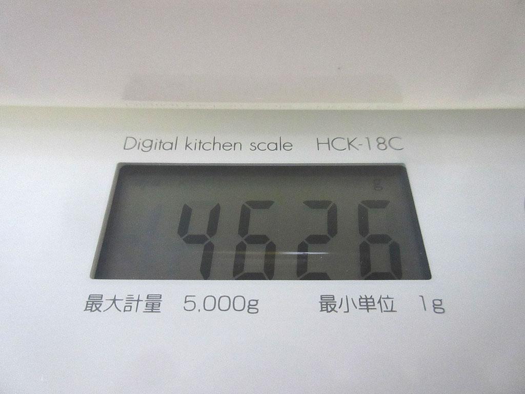 アビのすけの体重は4,626g。