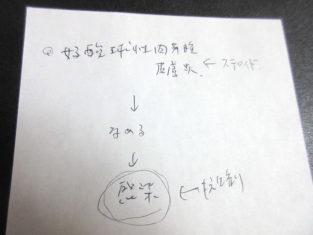 先生の説明書き。