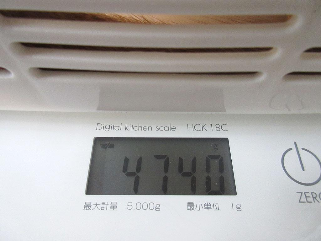 アビのすけの体重は4,740g。
