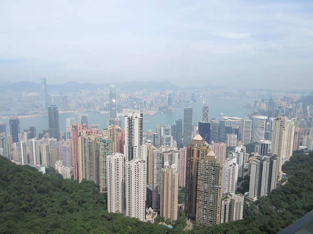 素晴らしい香港の眺望。