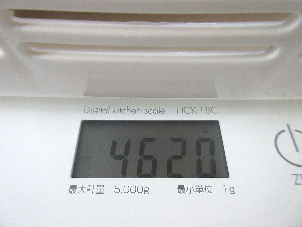 アビのすけの体重は4,620g。