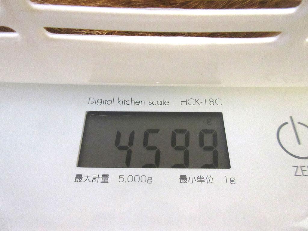 アビのすけの体重は4,599g。