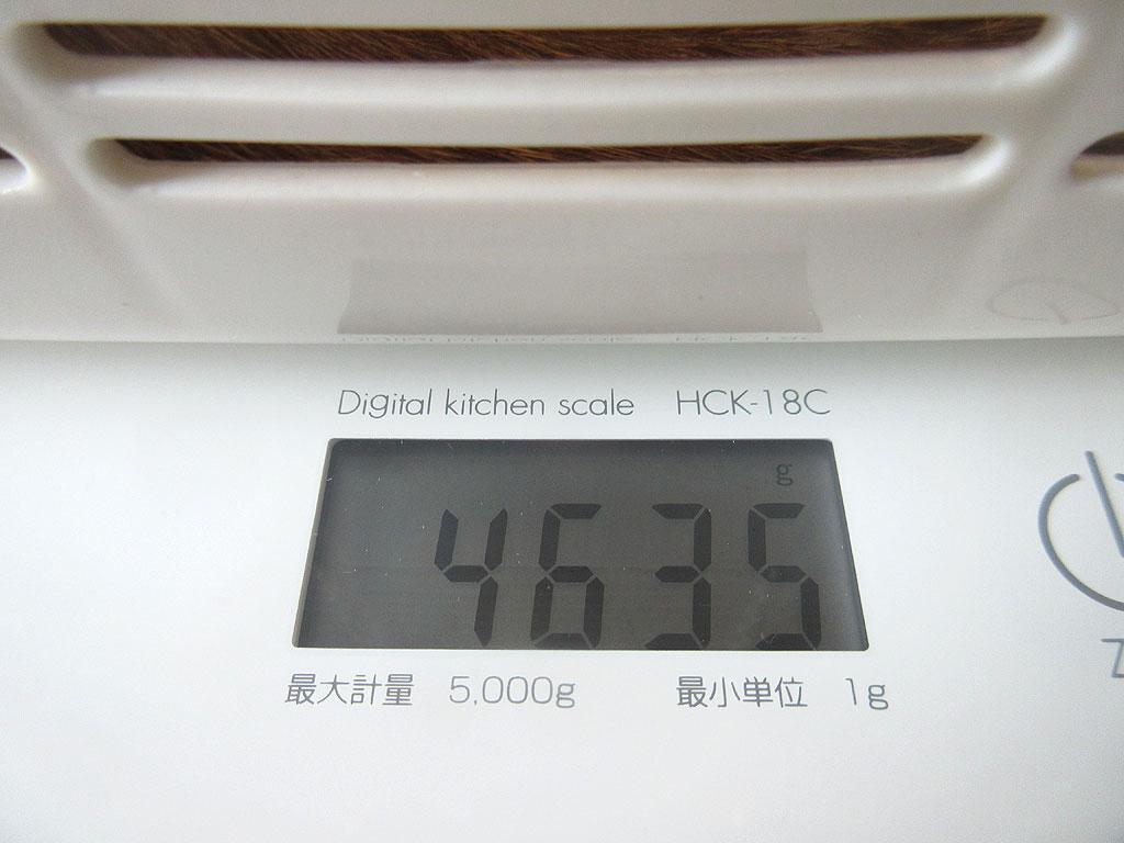 アビのすけの体重は4,635g。