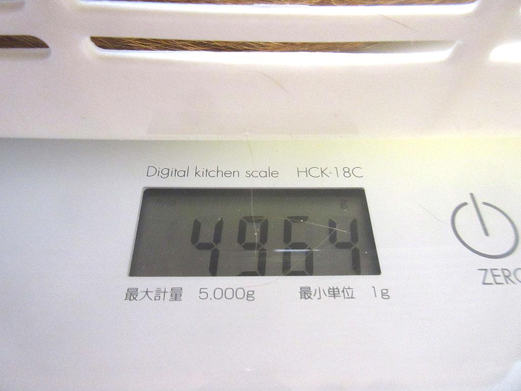 アビのすけの体重は4,964g。