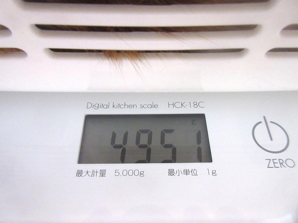 アビのすけの体重は4,951g。