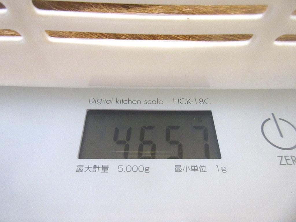 アビのすけの体重は4,657g。
