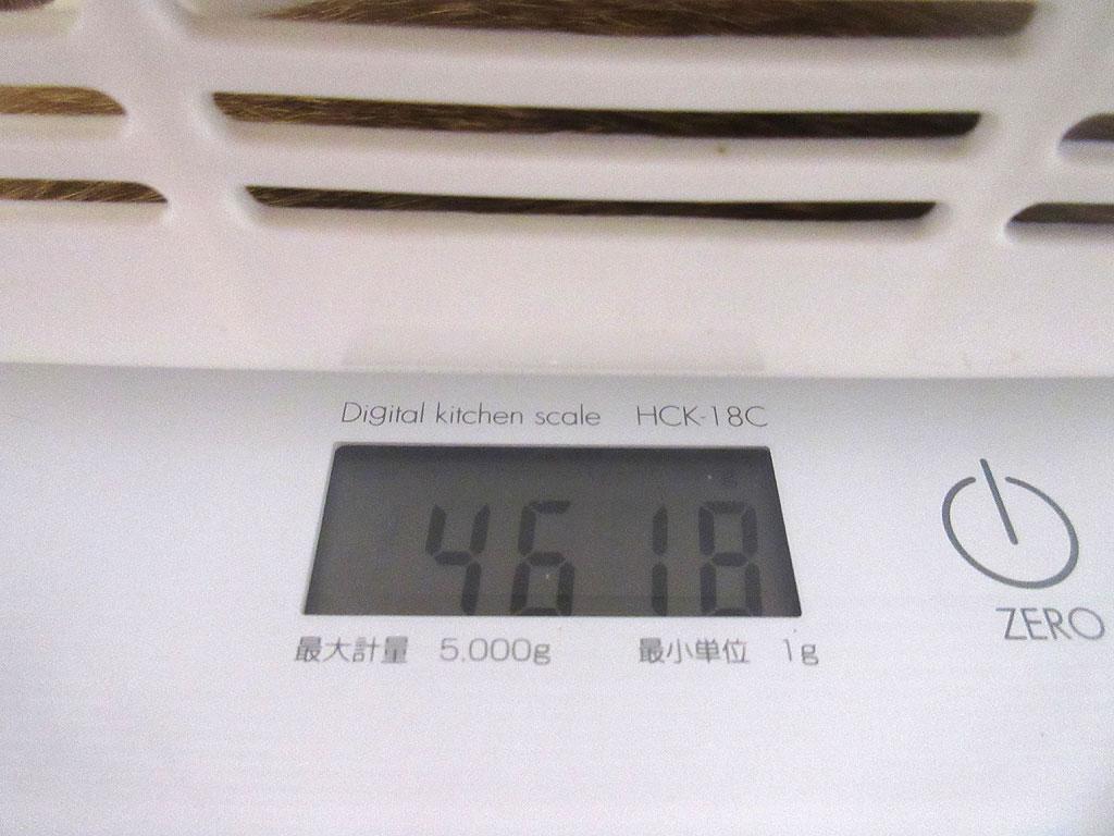 アビのすけの体重は4,618g。