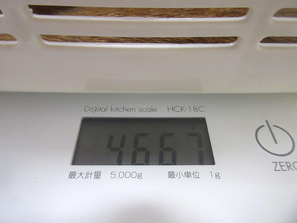 先週のアビのすけは4,667g。