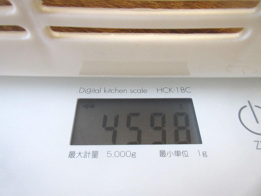 アビのすけの体重は4,598g。