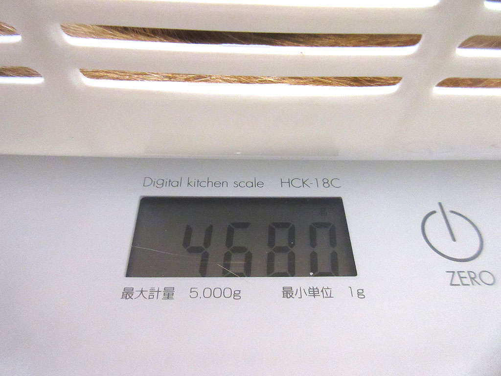 アビのすけの体重は4,680g。