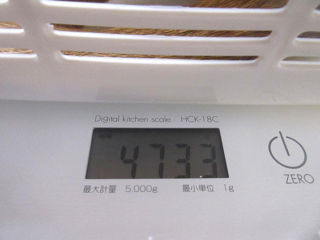 アビのすけの体重は4,733g。
