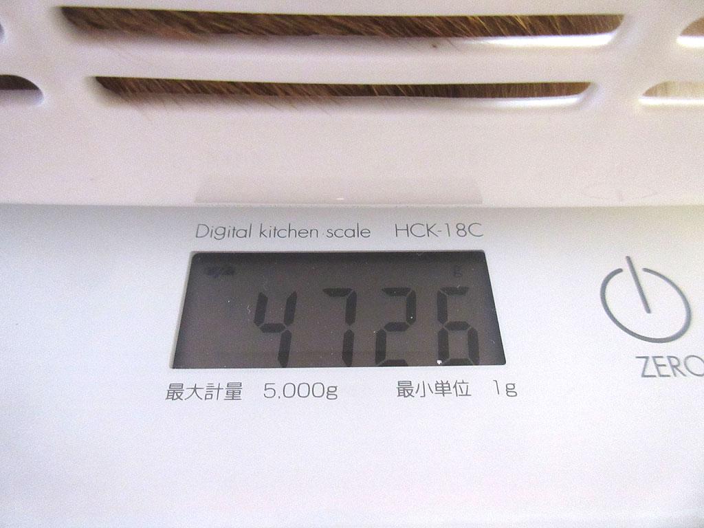 アビのすけの体重は4,726g。