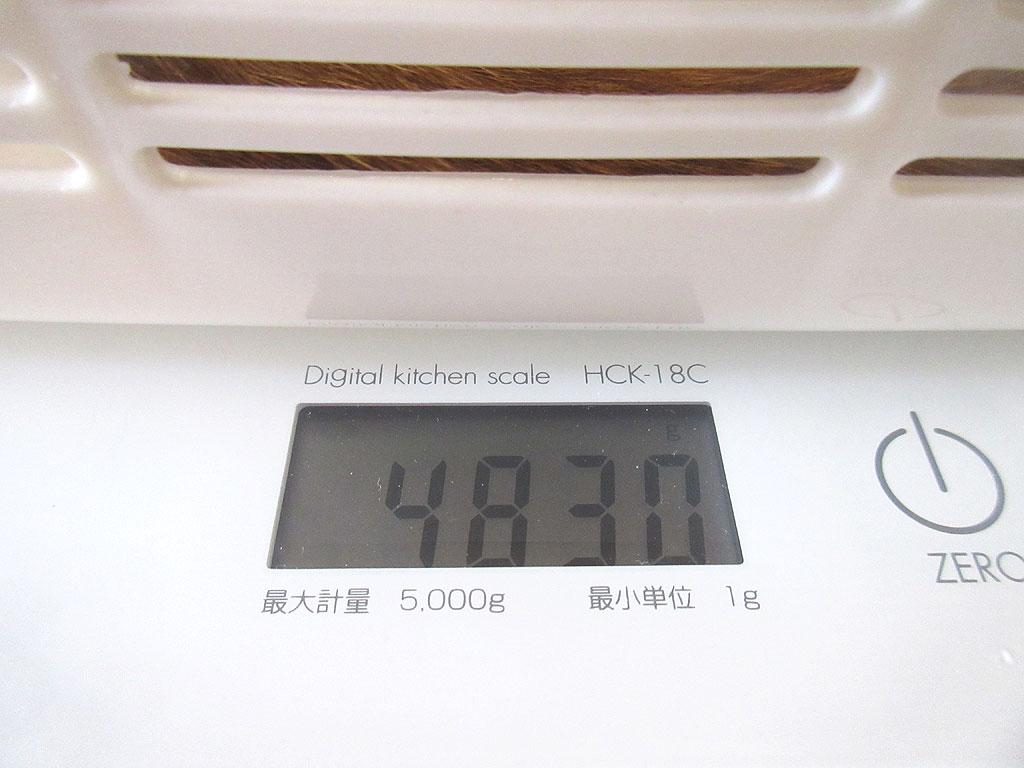 アビのすけの体重は4,830g。