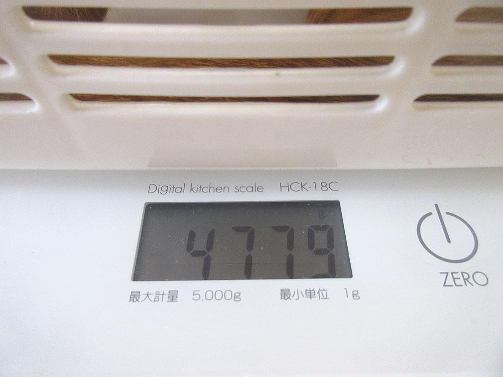 アビのすけの体重は4、779g。