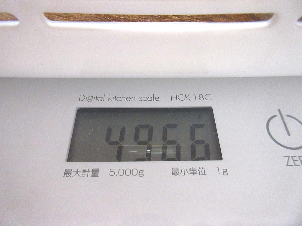 アビのすけの体重は4,966g。