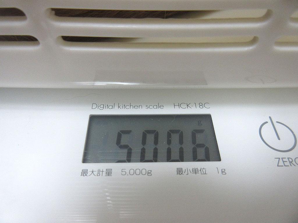 アビのすけの体重は5,006g。