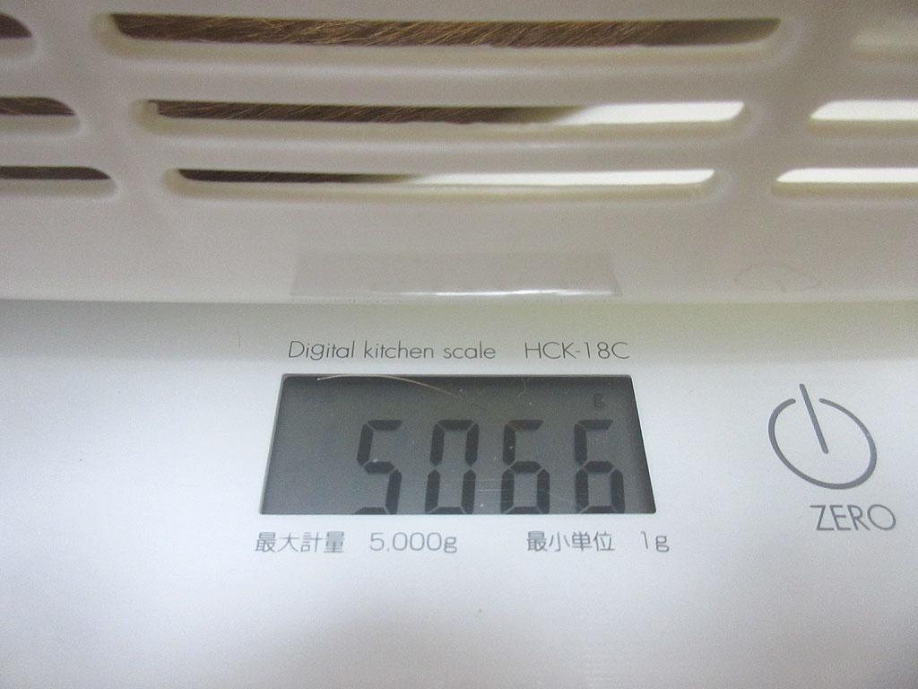 アビのすけの体重は5,066g。