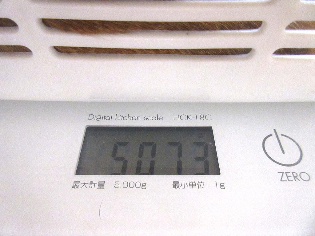 アビのすけの体重は5,073g。