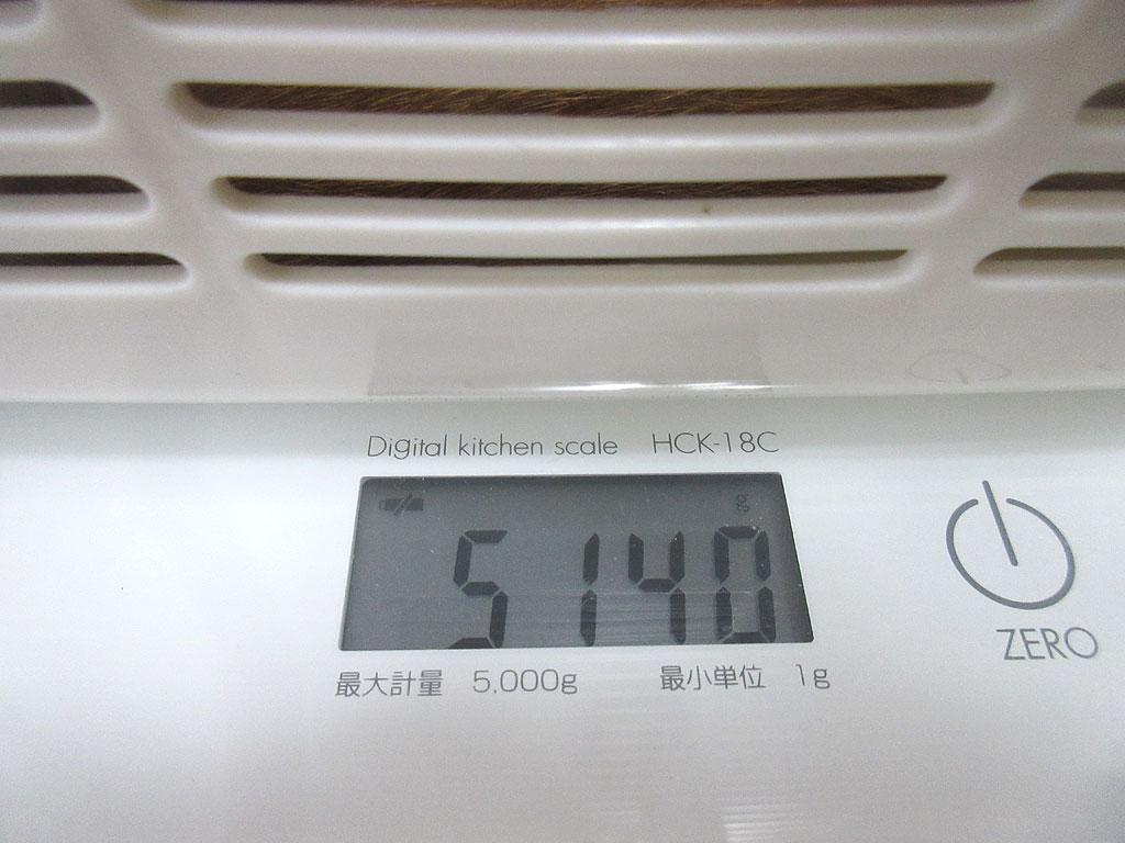 アビのすけの体重は5,140g。