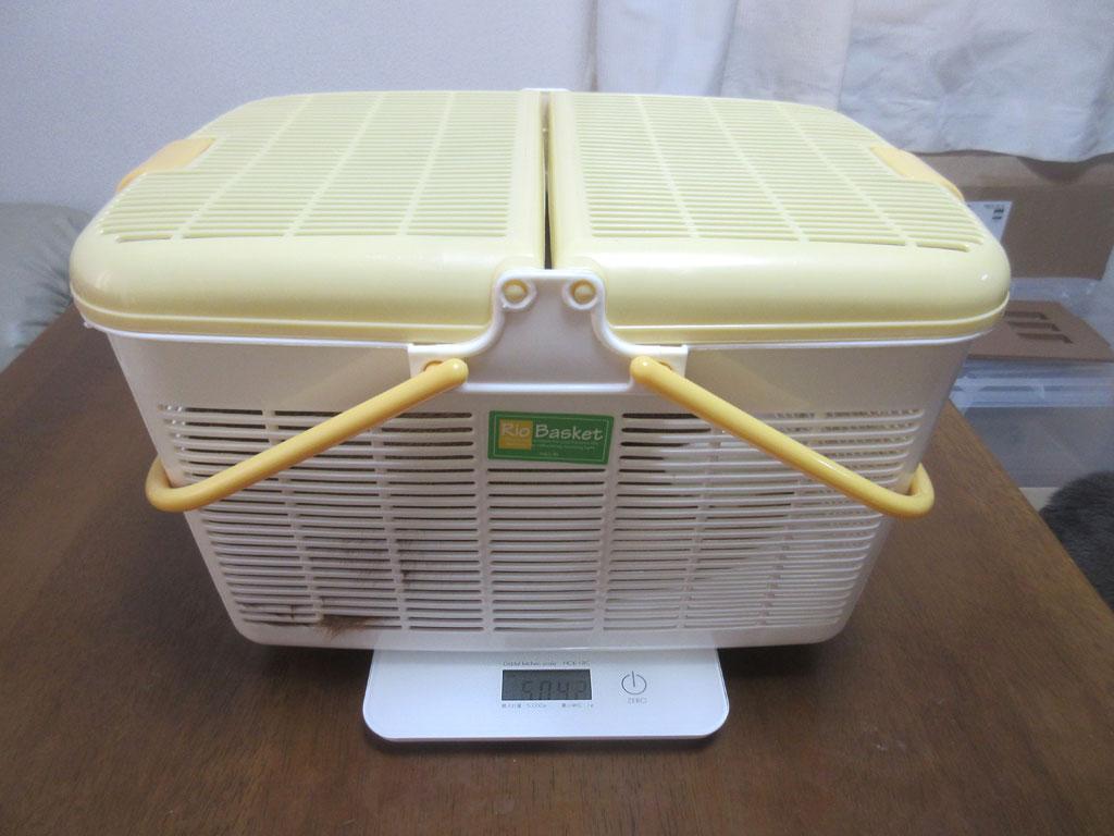 先週のアビのすけの体重測定。